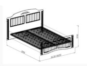 Кровать №1 Николь схема