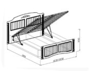 Кровать №1 подъёмная Николь схема