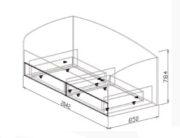Кровать №10 с ящиками схема