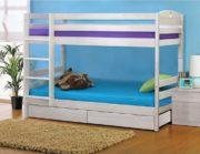 Кровать Двухъярусная массив (трансформер) с ящиками