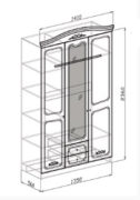 Шкаф лира 3х схема