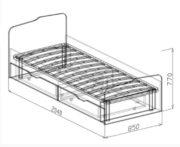 кровать 800 с ящиками №15 хема