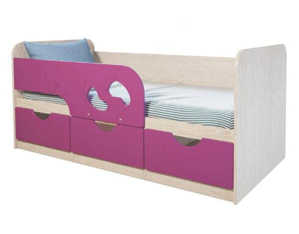 Кровать детская Минима Лиловый сад