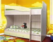 Кровать двухъярусная Адель - 1 кремовый металлик