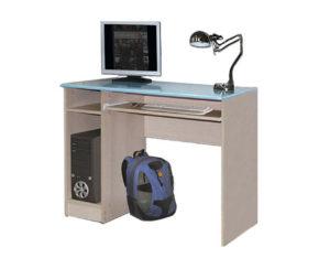 Стол компьютерный голубой металлик