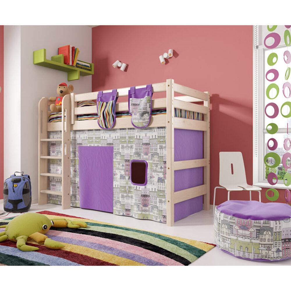 Вариант 5 Полувысокая кровать Соня с прямой лестницей