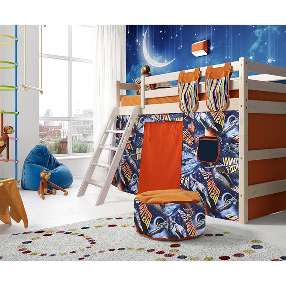 Вариант 6 Полувысокая кровать Соня с наклонной лестницей