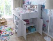 Кровать чердак Малыш 5 ниша