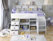 Кровать чердак Малыш 5 разобрана