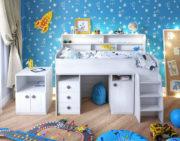 Кровать чердак Малыш 5 вид спереди