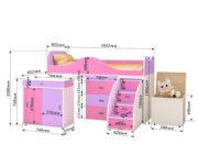 Кровать чердак «Малыш Люкс схема