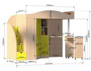 Кровать чердак «Юниор 4» размеры