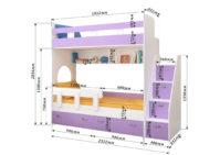 Двухъярусная кровать Юниор 1 схема