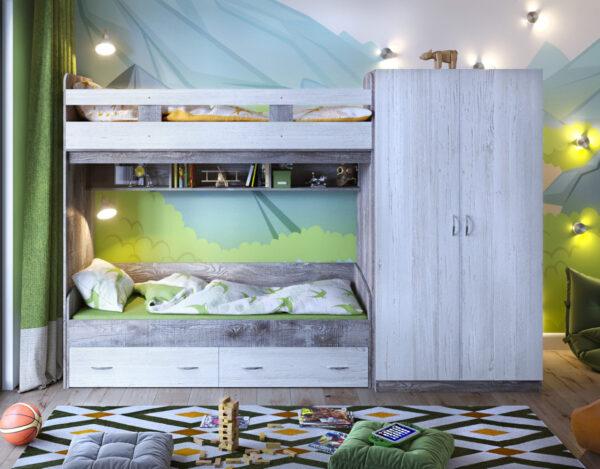 Двухъярусная кровать Юта 2