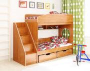 Двухъярусная кровать Легенда 10.3 ольха