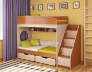 Двухъярусная кровать Легенда 10.3 ольха-венге светлый