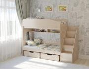 Двухъярусная кровать Легенда 10.3 венге светлый