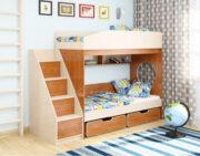 Двухъярусная кровать Легенда 10.3 венге светлый-ольха