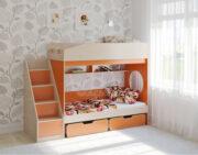 Двухъярусная кровать Легенда 10.3 венге светлый-оранжевый