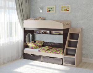 Двухъярусная кровать Легенда 10.3 венге светлый-венге тёмный