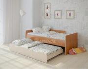 Двухъярусная кровать Легенда 14.2 ольха-венге светлый