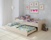 Двухъярусная кровать Легенда 14.2 венге светлый
