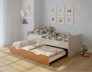 Двухъярусная кровать Легенда 14.2 венге светлый-ольха