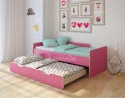 Двухъярусная кровать Легенда 14.2 венге светлый-розовый