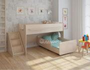 Двухъярусная кровать Легенда 23.4 венге светлый