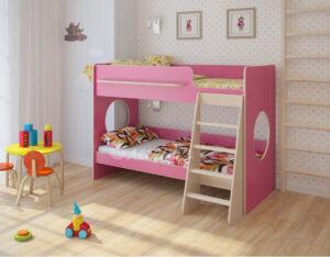 Двухъярусная кровать Легенда 25.1 венге светлый-розовый