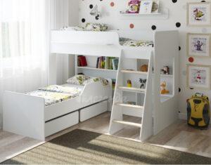 Двухъярусная кровать Легенда 26.2 белая