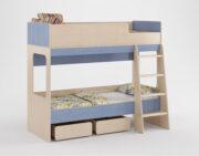 Двухъярусная кровать Легенда 38 венге светлый-голубой лён