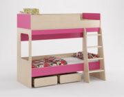 Двухъярусная кровать Легенда 38 венге светлый-розовый