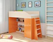 Кровать чердак Легенда 11.1 венге светлый-оранжевый