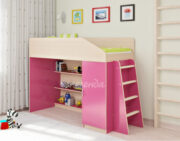 Кровать чердак Легенда 11.1 венге светлый розовый