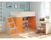 Кровать чердак Легенда 11.6 венге светлый-оранжевый