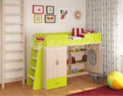 Кровать чердак Легенда 3.1 венге светлый-лайм