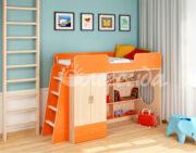 Кровать чердак Легенда 3.1 венге светлый-оранжевый