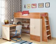 Кровать чердак Легенда 3.2 ольха -венге светлый