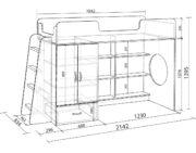 Кровать чердак Легенда 3.2 схема