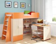 Кровать чердак Легенда 3.2 венге свптлый-оранжевый