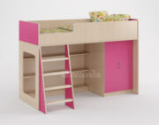 Кровать чердак Легенда 36 розовый