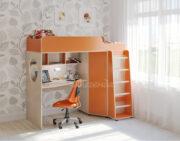 Кровать чердак Легенда 4.1 венге светлый-оранжевый