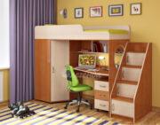 Кровать чердак Легенда 4.3 ольха-венге светлый