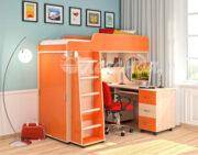 Кровать чердак Легенда 5.2 венге светлый-оранжевый