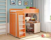 Кровать чердак Легенда 5.6 венге светлый оранжевый