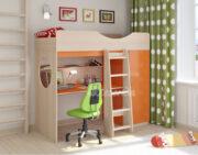 Кровать чердак Легенда 9.1 венге светлый-оранжевый
