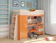 Кровать чердак Легенда 9.2 венге светлый-оранжевый