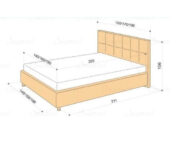 Кровать Greta габариты